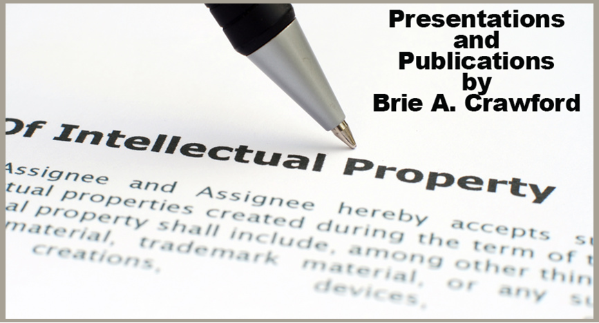Publications and Presentations on ntellectual Property Law